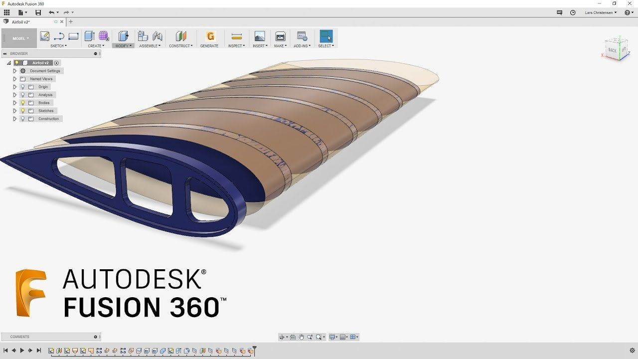 How To Create Airplane Wing Ribs — Fusion 360 Tutorial