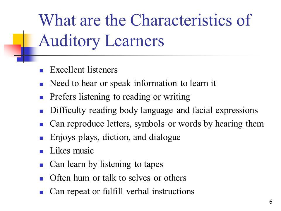 famous auditory learners