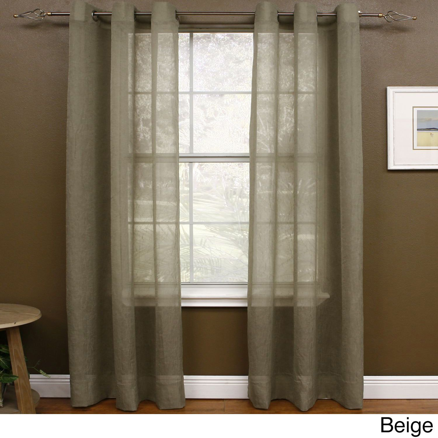 Miller Curtains Preston 63 Inch Grommet Sheer Panel Sheer Curtains Curtains Curtains 1 Panel