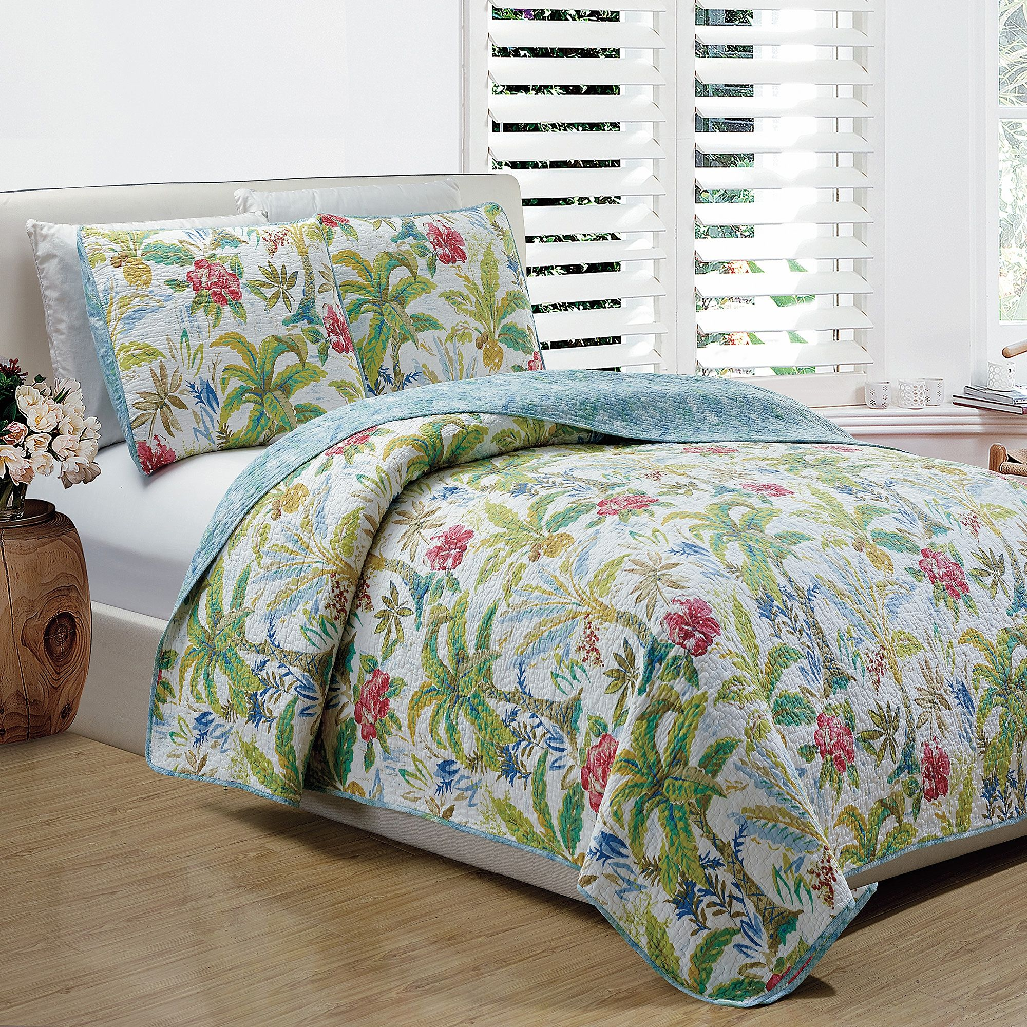 Panama Jack 174 Matisse Palm Reversible Quilt Set In 2019