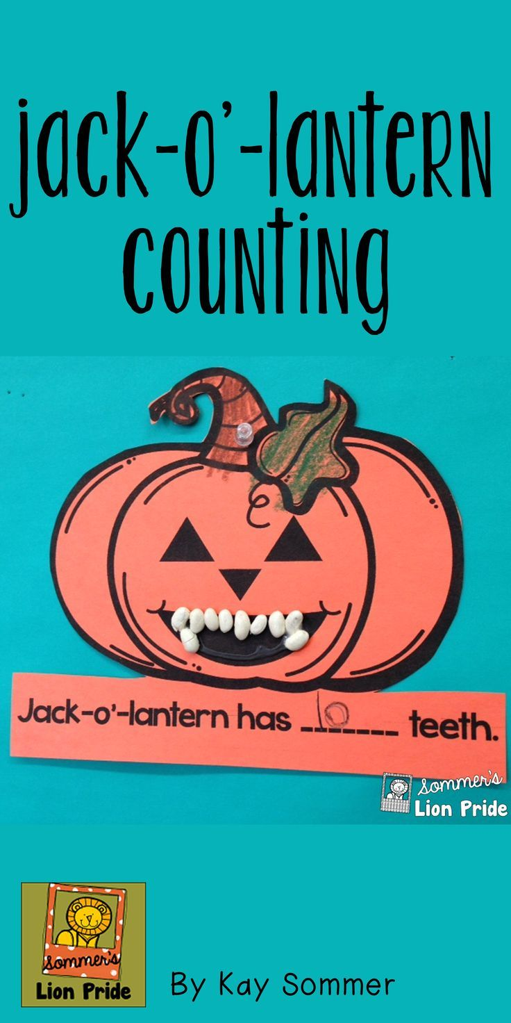Counting {jack o lantern} | Math crafts, Math and Math tubs