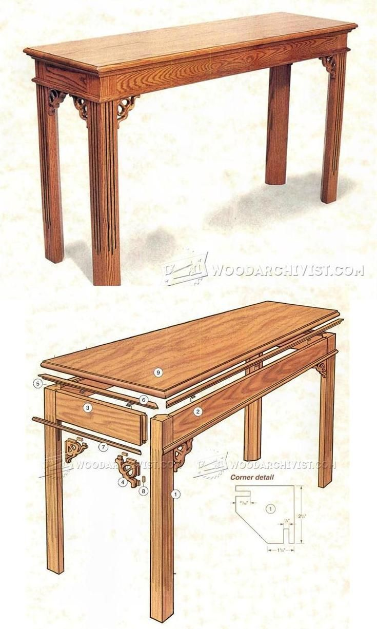 sofa table plans. Sofa Table Plans - Furniture And Projects | WoodArchivist.com Y