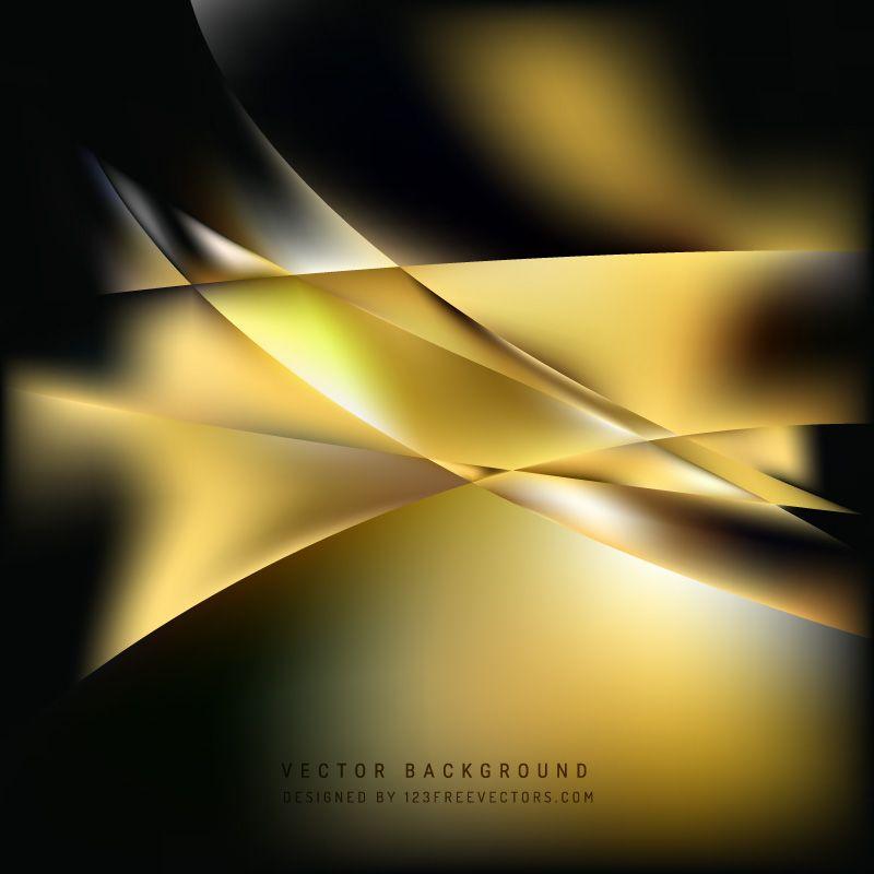 Black Gold Background Design