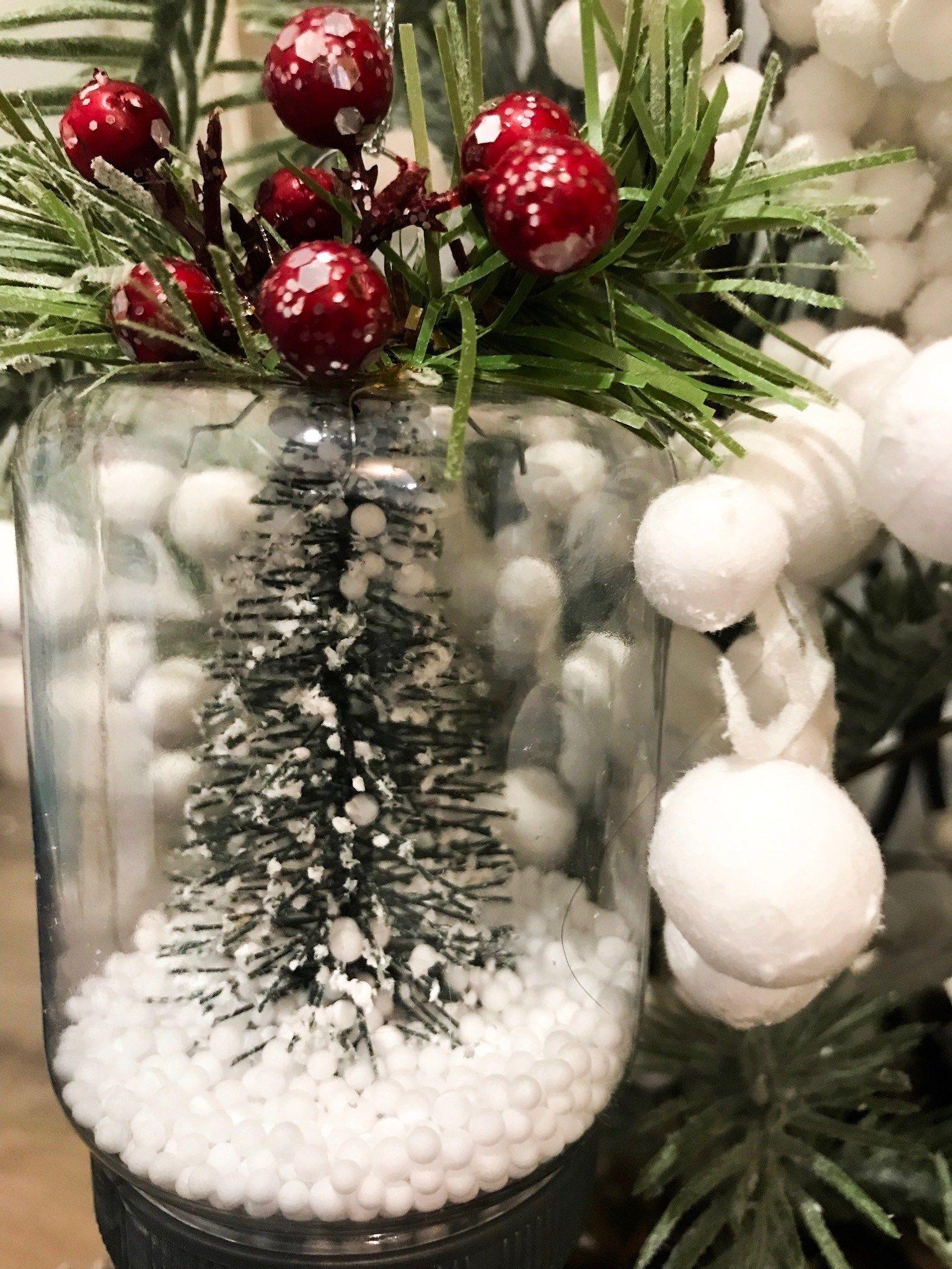 diy bottle brush Dollar Tree Ornament ReFabbed Diy