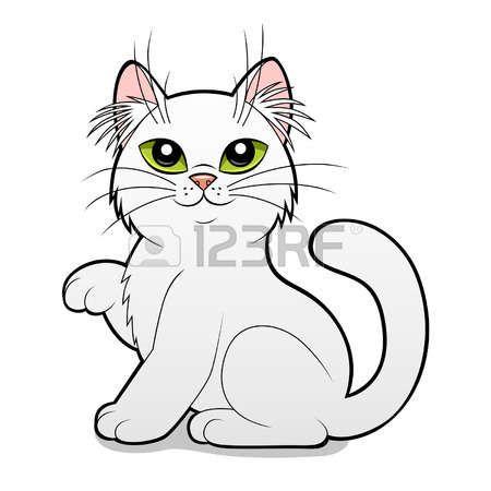 cartoon chat noir et blanc sur le fond