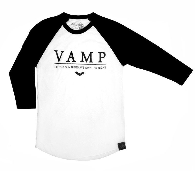 3f185ade3 Vampire Life Vamp Baseball Graphic Tee by Jim Jones Black White Small | eBay