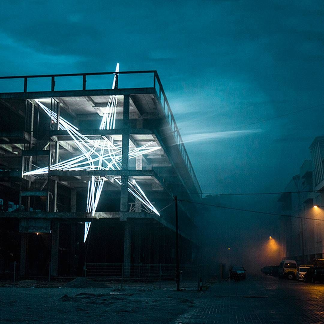 Hypebeast On Instagram Kuala Lumpur Based Architect And Artist Junihaoni Has Set A Five Storey Lighting Installa Installation Art Large Scale Art Public Art