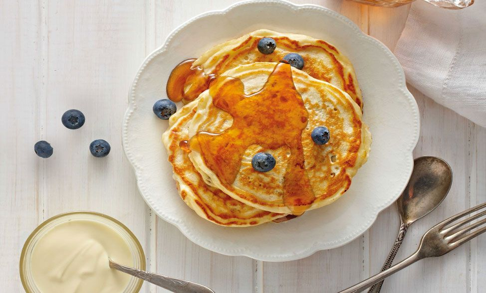 Blueberry & Barley Pancakes