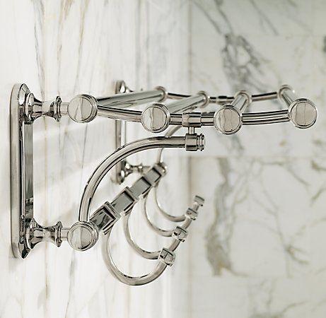 Towel Bars Or Hooks With Images Restoration Hardware Bathroom