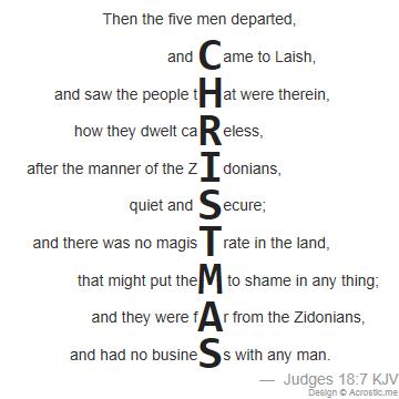 biblical christmas acrostic poem