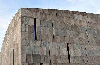 Basalt Lava Stone Facade Detail Museum Moderner Kunst Mumok Museum Of Modern Art Museumsquartier In Vienna Austria Eur Stone Facade Museum Of Modern Art Facade