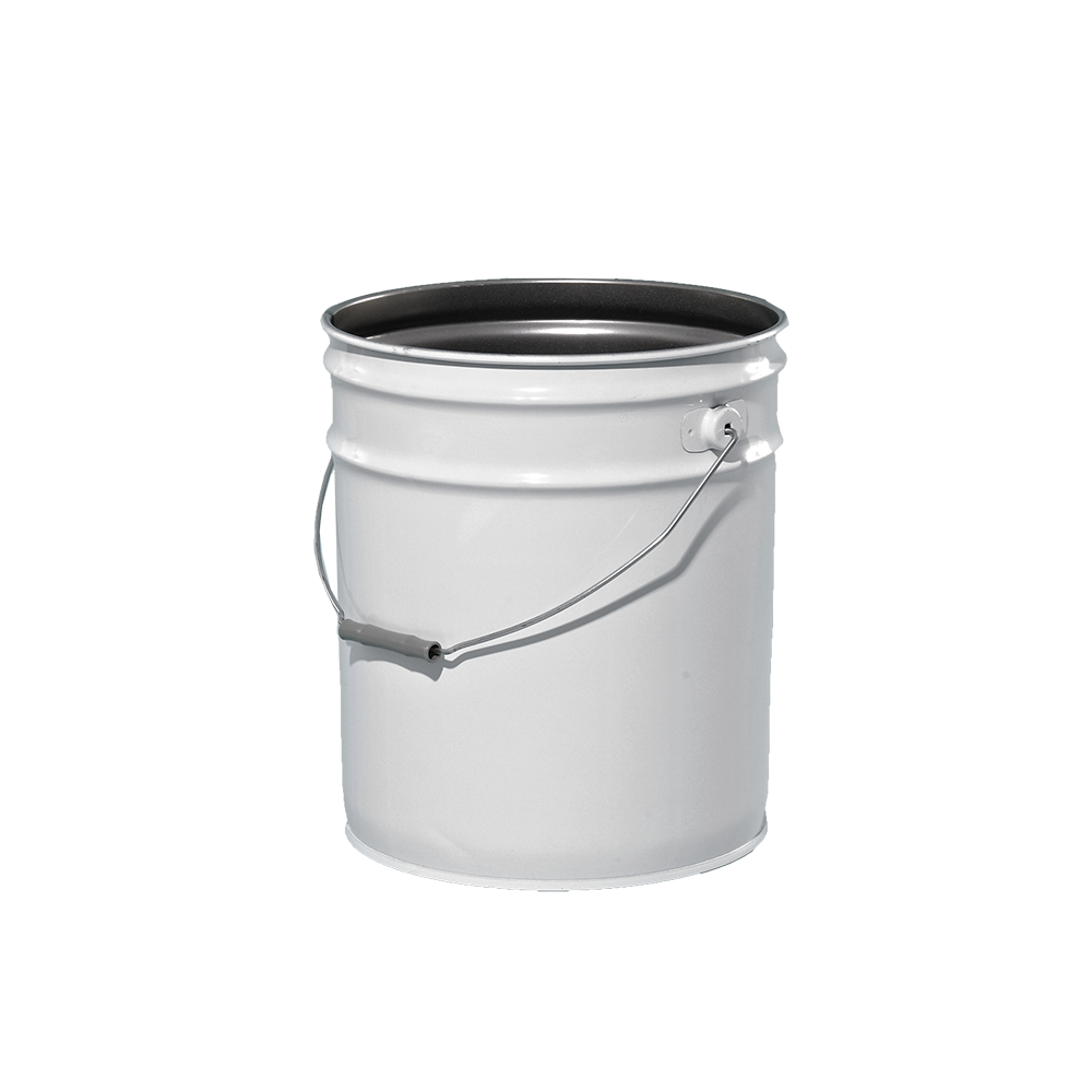 Illing Part 2101g 5 Gallon Grey 26 Gauge Metal Open Head Phenolic Pail W Red Brown Lining Un Rated Steel Open Head Pails Are Availab Metal Pail Pail Metal