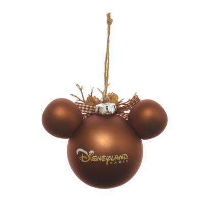 Micky Maus - Weihnachtbaumkugel mit Waldmotiv
