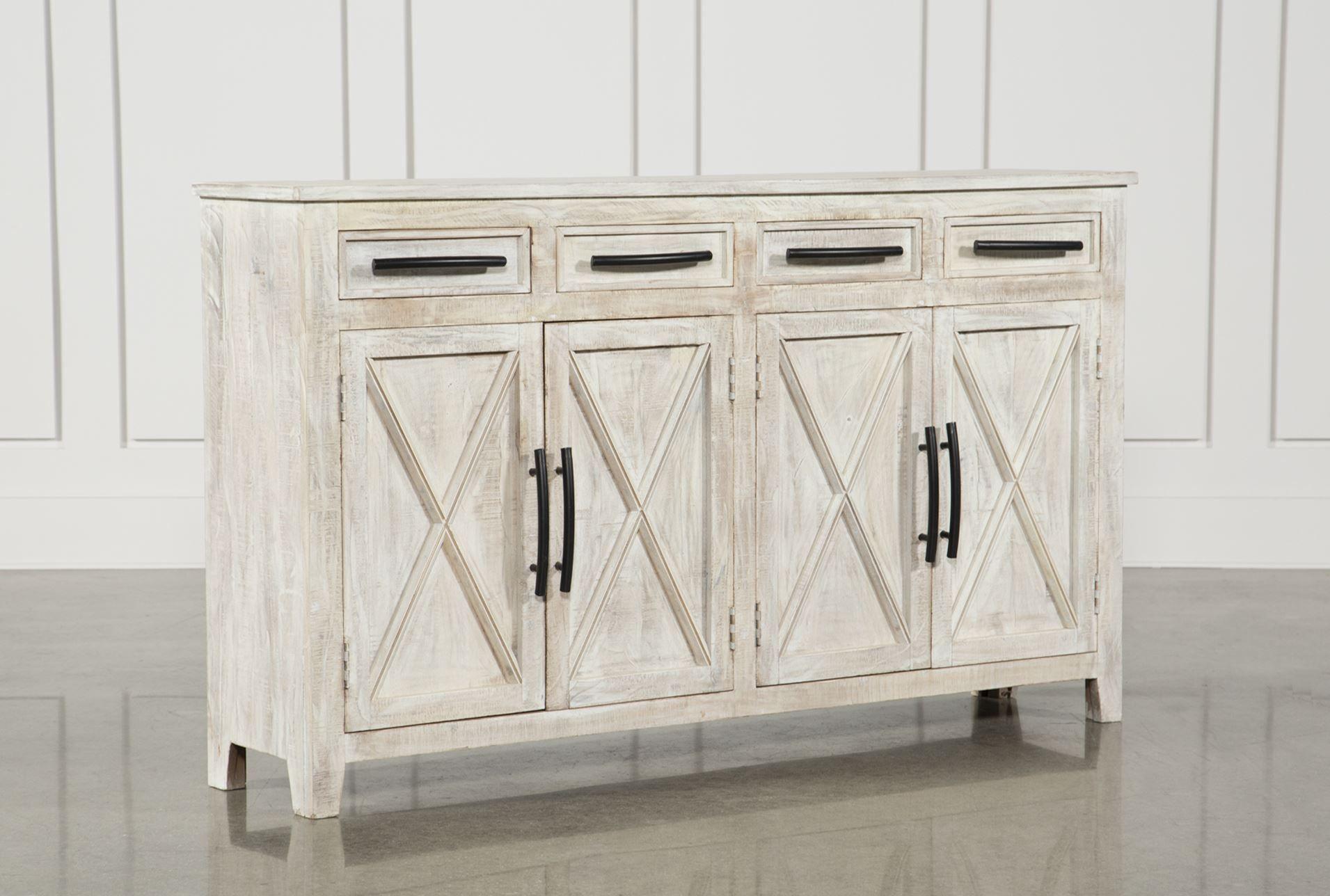 Otb White Wash 4 Drawer Door 72 Inch