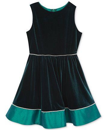 c5c0bfd05 Rare Editions Velvet   Taffeta Dress