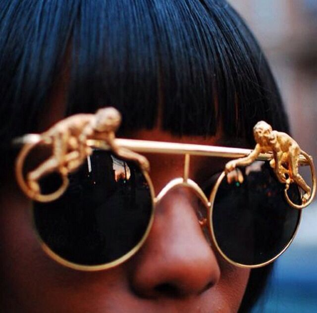 golden monkey sunglasses by mercura nyc monkyglassed. Black Bedroom Furniture Sets. Home Design Ideas