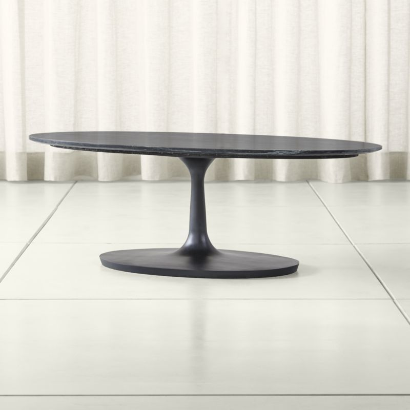 Shop Nero Black Marble Oval Coffee Table The Nero Black Marble Oval Coffee Table Is A Crate And Barr Dining Table Marble Oval Coffee Tables Oval Table Dining