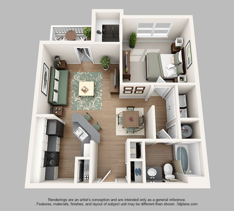 Sweetwater Floor Plan 1 Apartment Layout Bedroom House Plans