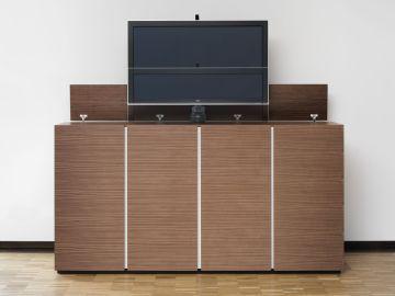tv schrank ausfahrbar wohn design. Black Bedroom Furniture Sets. Home Design Ideas