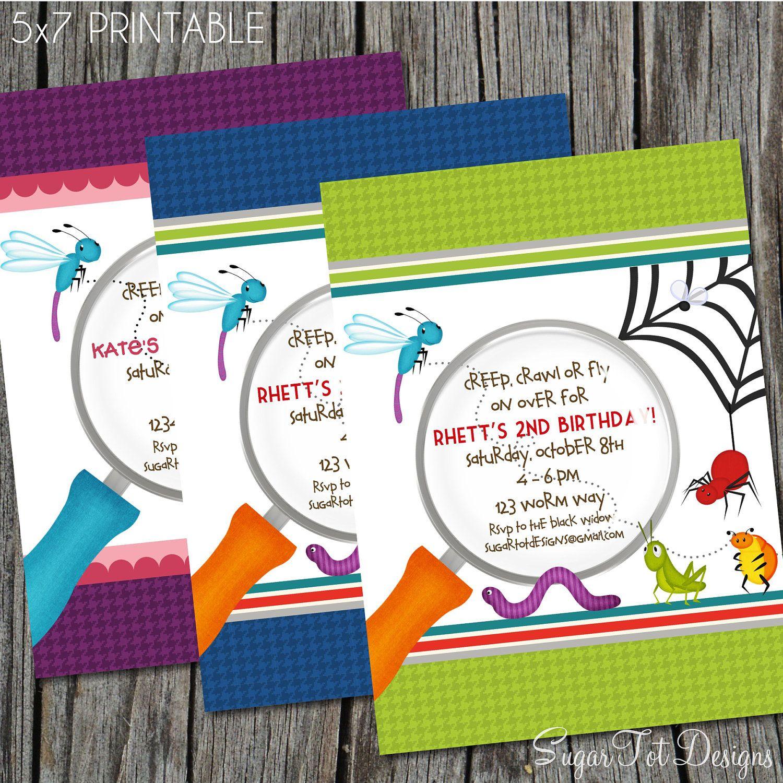 Invite inspiration: Bug Birthday Party Invitation | Carson ...