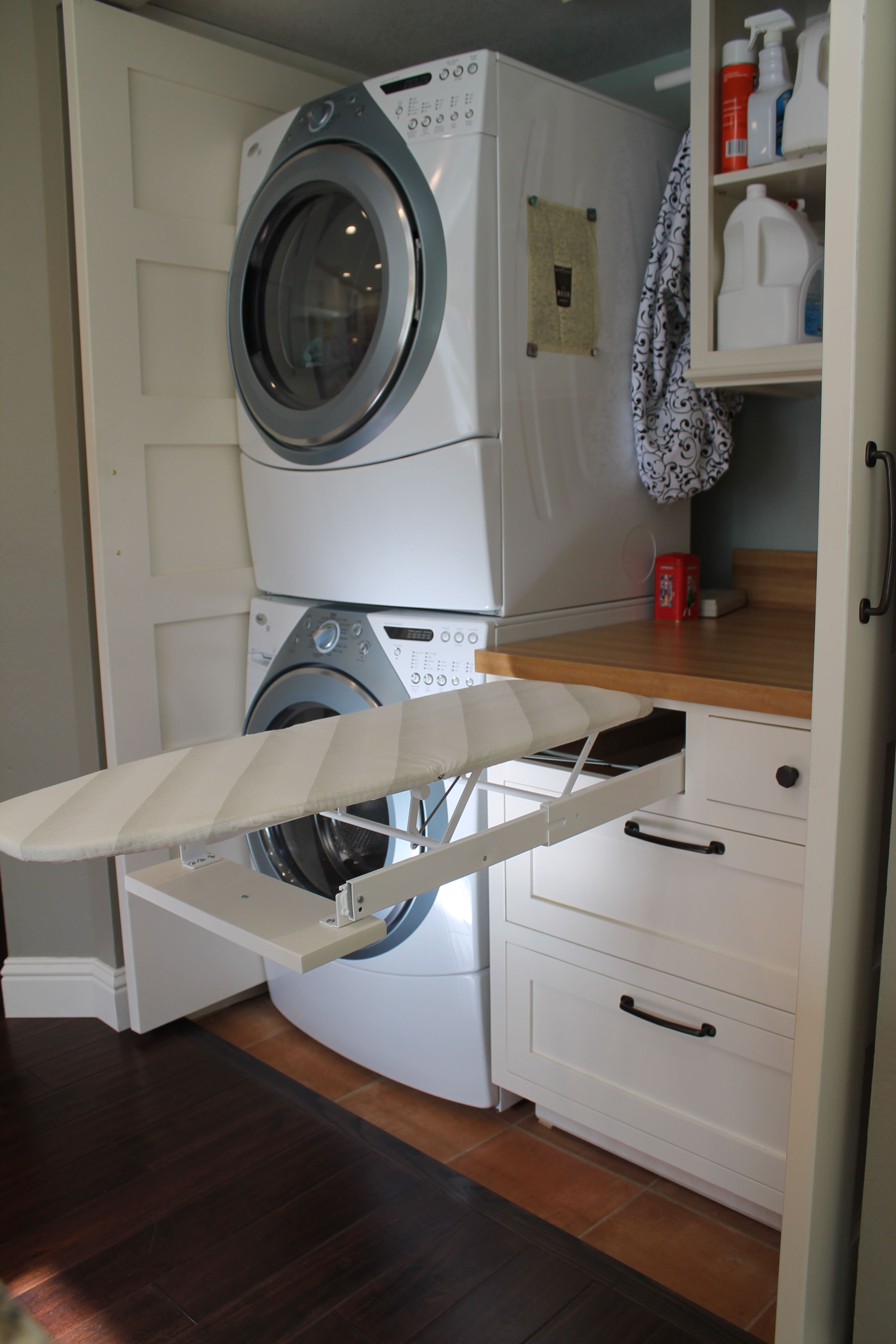 The Best Upgrade Fold Out Ironing Board Drawer In The Laundry Full Size Doors To Closet Room Organizer Master Closet Organization Bedroom Organization Closet
