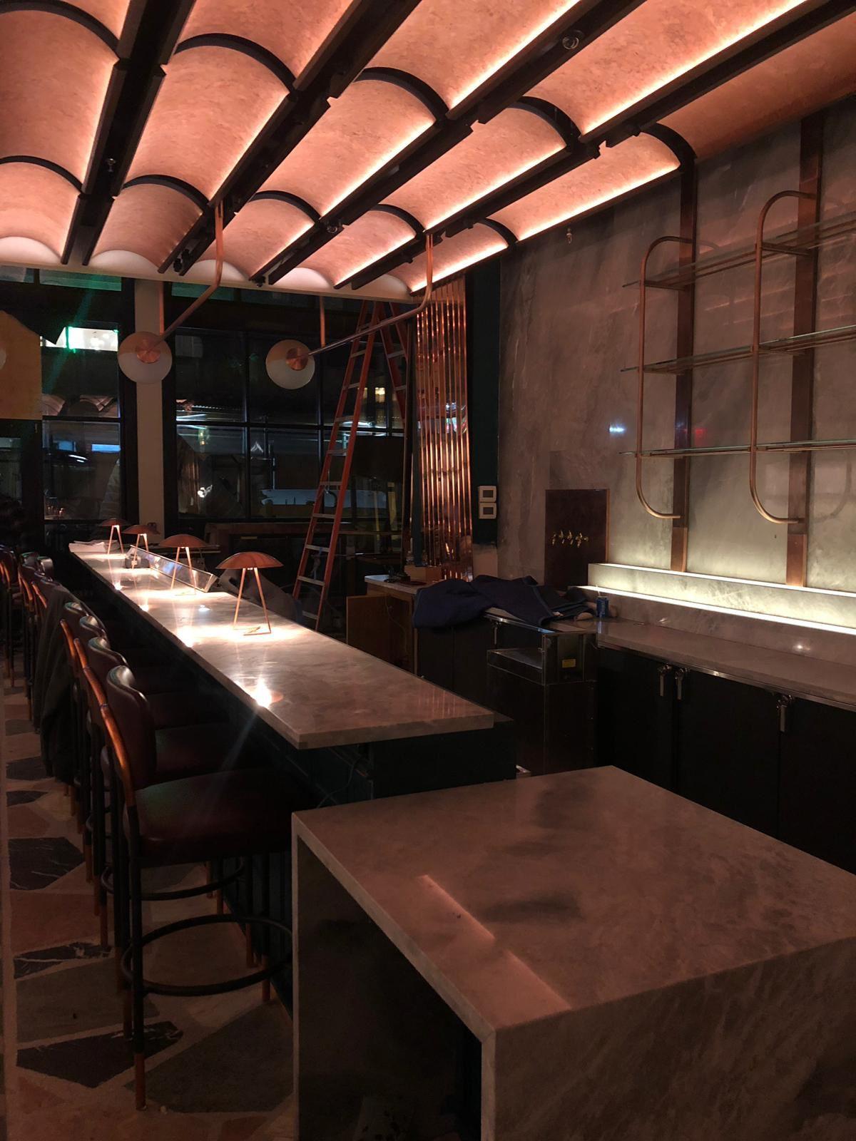 Blue de Savoi Marble Bar top Granite countertops kitchen