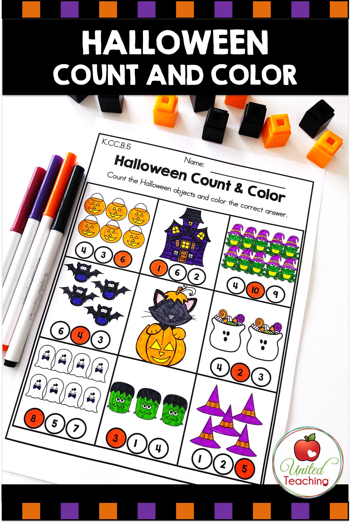 Halloween Math Activities Kindergarten