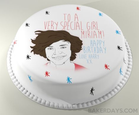 Harry Styles from One Direction Birthday Cake I think Id like