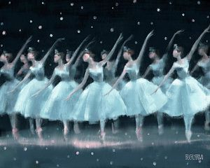 Girl Painting - Nutcracker Ballet Waltz Of The Snowflakes by Beverly Brown