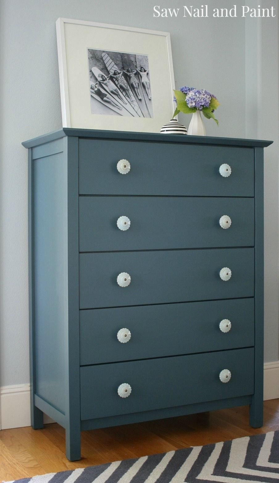 Best Homestead Blue Dresser And Nightstand Furniture Painted 400 x 300