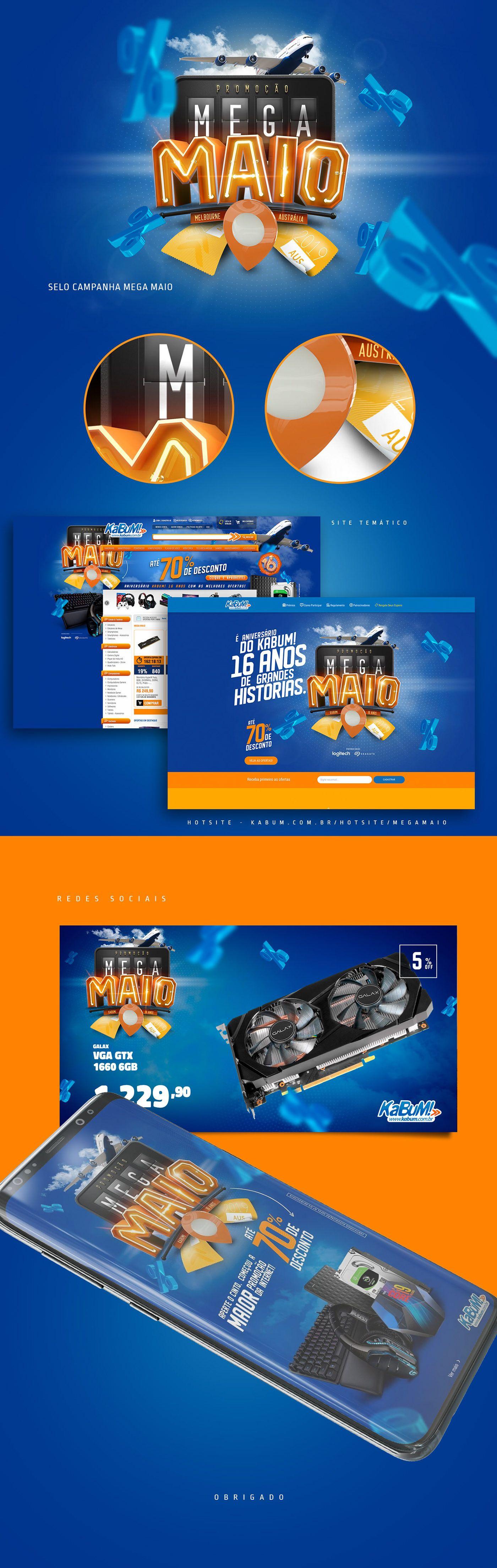 Campanha Mega Maio Kabum On Behance Behance Adobe Creative Cloud Adobe Creative