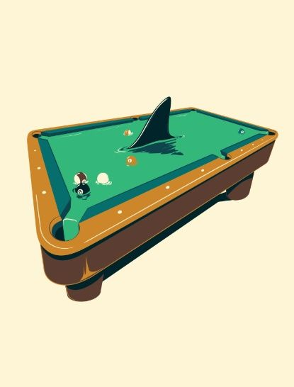 Pool Shark Art Print Masse Pinterest Shark Art And Characters - Masse pool table