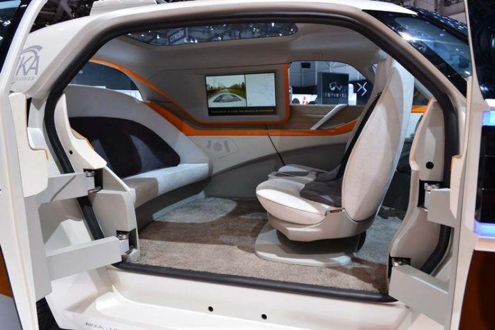 autonomous car concept swaps steering wheel for gesture controls technology pinterest. Black Bedroom Furniture Sets. Home Design Ideas
