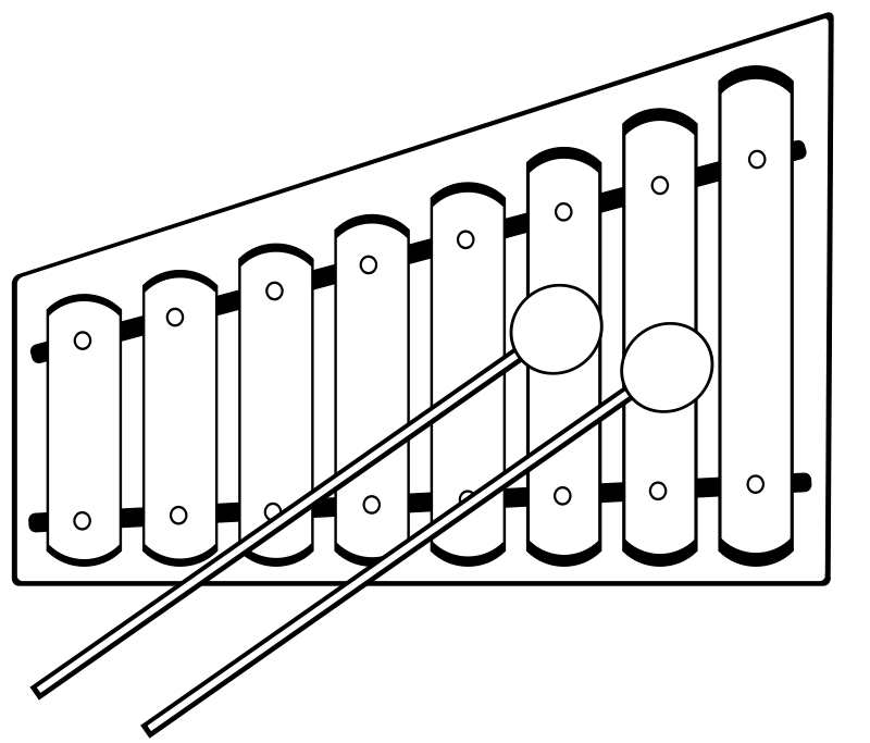 Xylophone By Gerald G Openclipart Org Click Through To Download Xylophone Coloring Pages Art Block