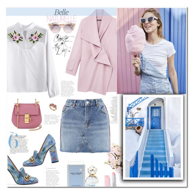 """""""pastel"""" by mery90 ❤ liked on Polyvore featuring Lux-Art Silks, By Terry, Chloé, Topshop, Vince, Gucci, Jimmy Choo, Marc Jacobs and Effy Jewelry"""