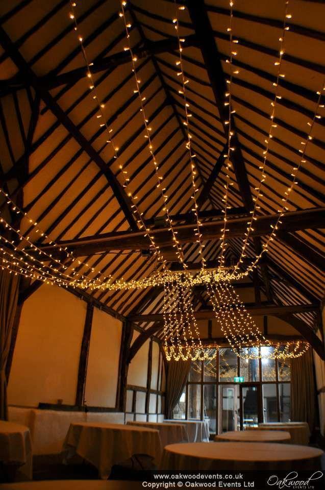 Gathered Canopy At The Beautiful Bix Manor Henley #wedding #lighting