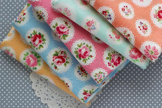 168 | 365  scallop flower fat quarter bundle by nanaCompany, via Flickr
