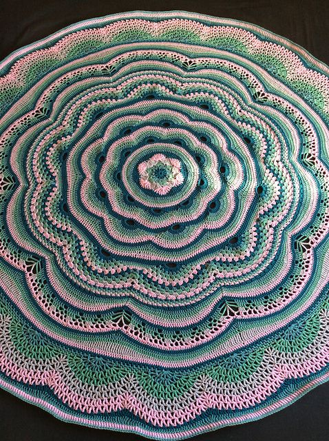 How to Crochet a Colorful Mandala Blanket Project Homesteading - The ...