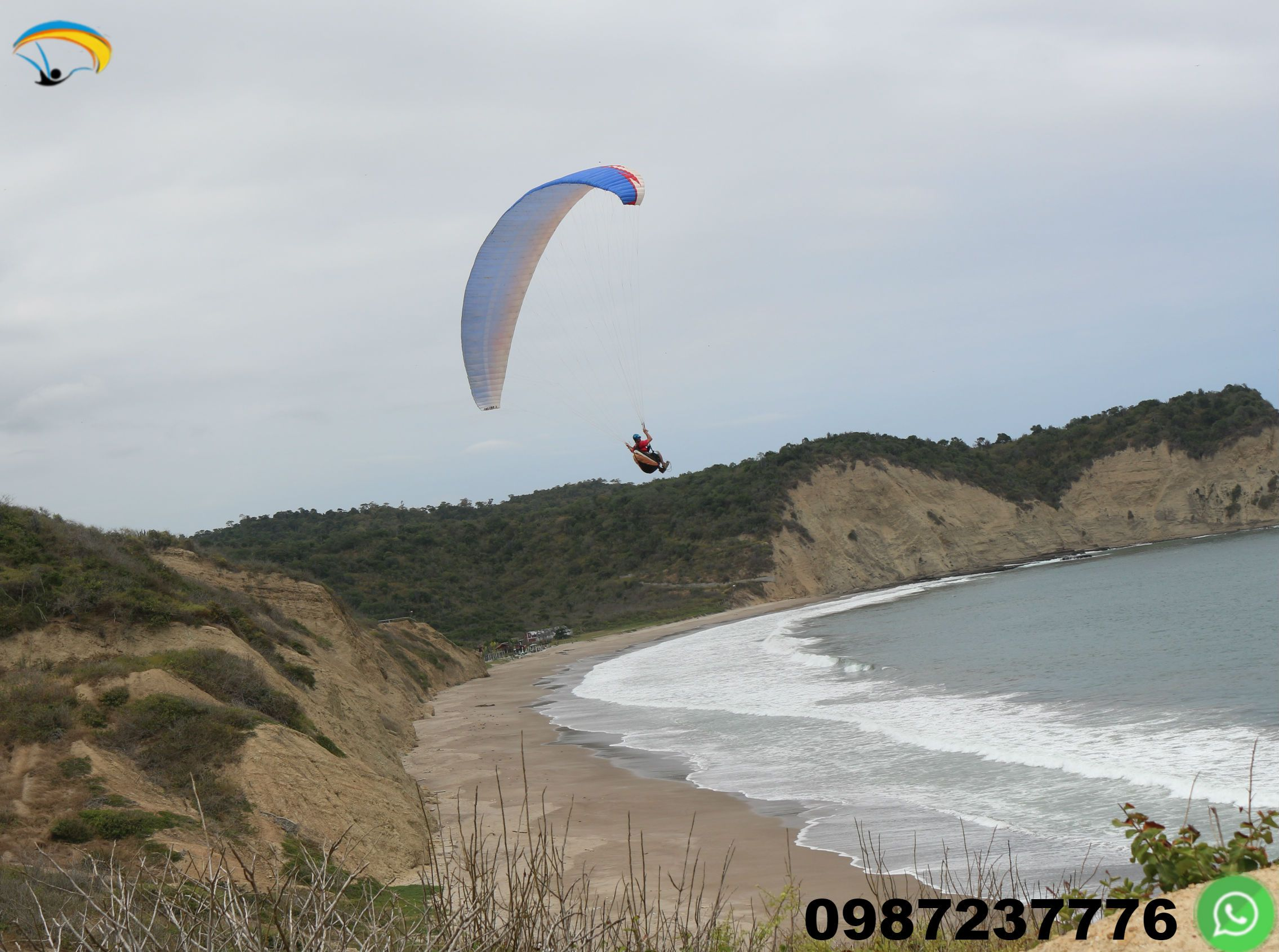 Paragliding Courses Puerto Lopez Ecuador You can learn this sport beginning with the first days after the theory and practice.