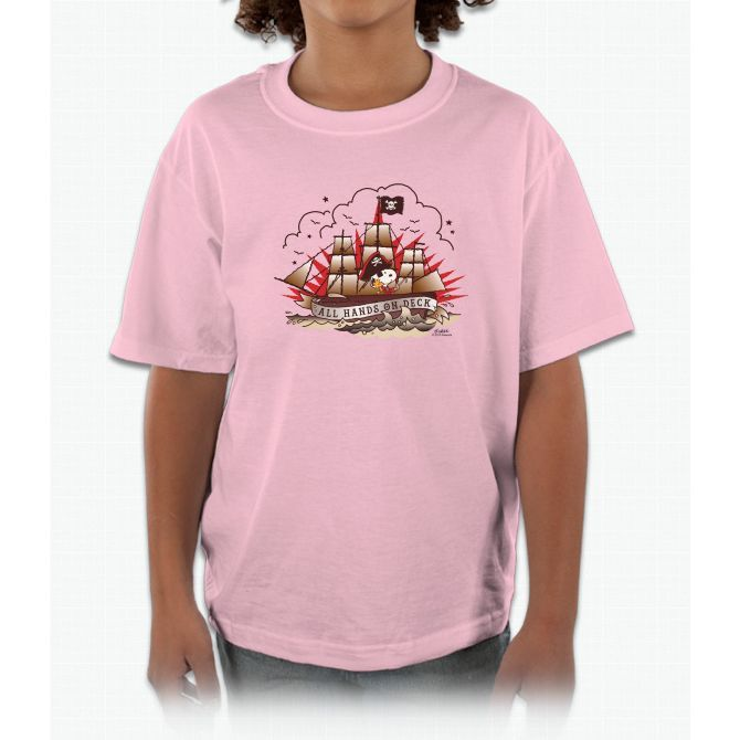 Peanuts All Hands On Deck Snoopy Kids and Youth T-Shirt