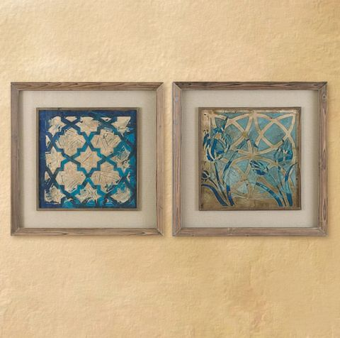 Stained glass wall art set of 2 bellasoleil com