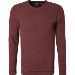 Photo of Boss Herren T-Shirt Langarm, Slim Fit, Baumwolle, Barolo Red Hugo Boss