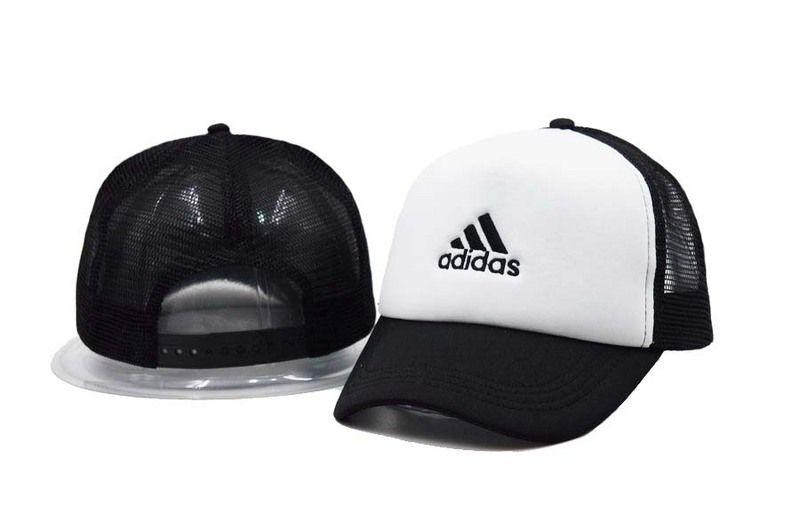 c69107eb4bb Mens   Womens Unisex Adidas Iconic Adidas Logo Embroidery Mesh Back  Baseball Adjustable Trucker Hat - White   Black