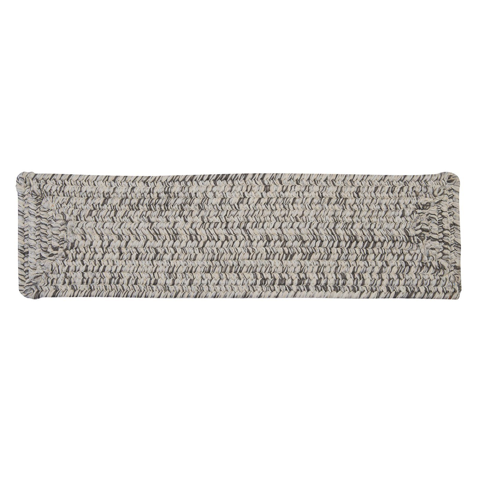 Best Colonial Mills Corsica Braided Indoor Stair Tread Silver 640 x 480