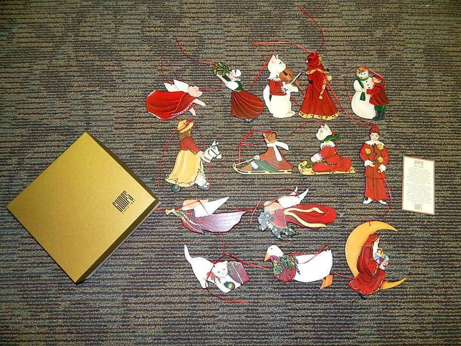 Gumps Beryl Miller Hand Painted Wooden Folk Art Artisan Christmas ...