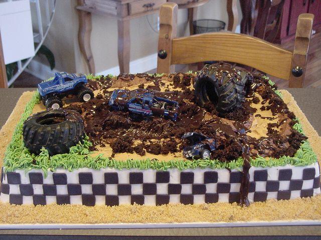 Terrific Mud Bogging Birthday Cake Truck Birthday Cakes Party Cakes Funny Birthday Cards Online Aboleapandamsfinfo