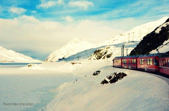 Il meraviglioso Trenino Rosso del Bernina <3