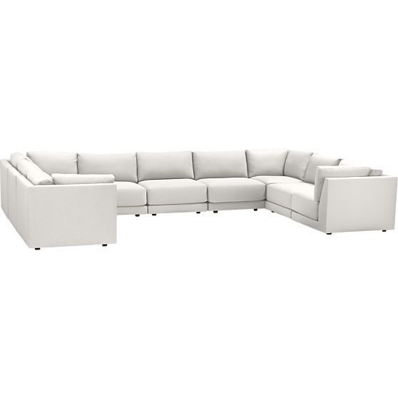 Moda 9 Piece Sectional Sofa In Sofas Crate And
