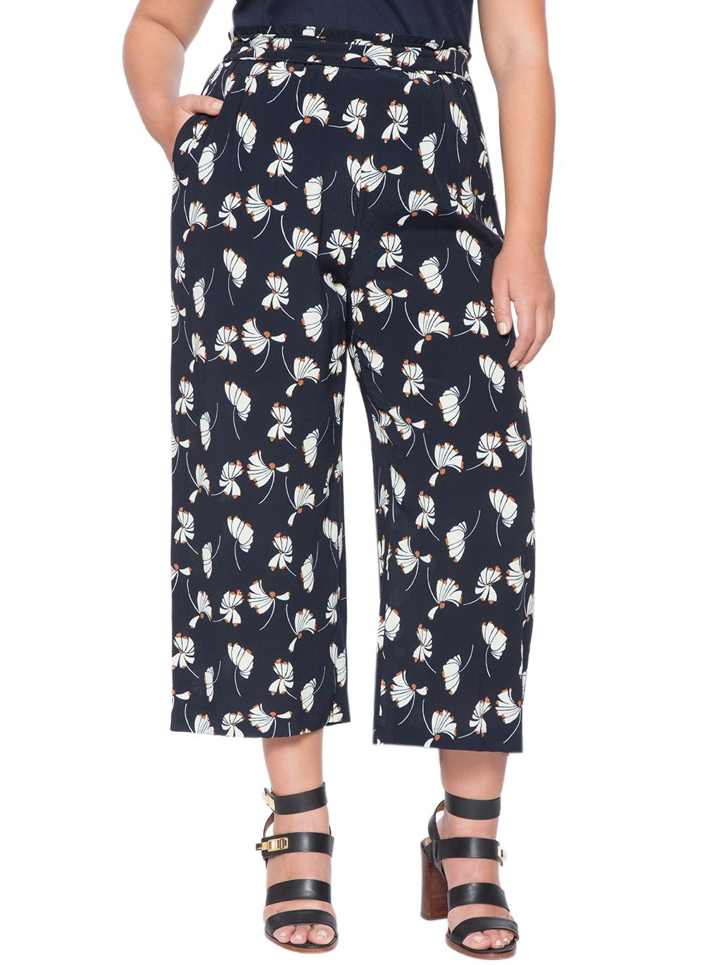 Printed Cropped Flare Pant | Women's Plus Size Tops | ELOQUII