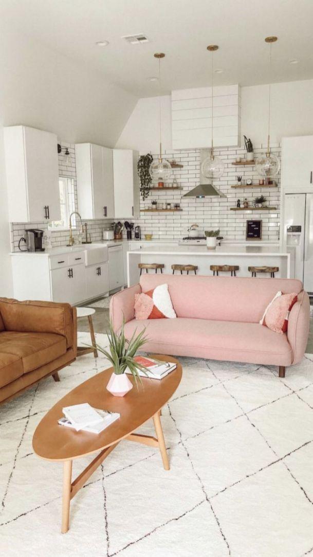 We've found the coolest peanut around: Classy Mid Century Living Room Design Ideas 54   Pink ...